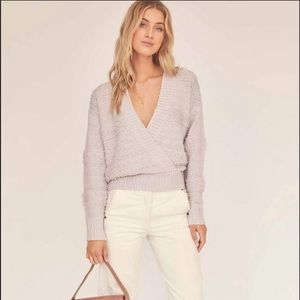 NWT ASTR lilac deep v-neck sweater size XS